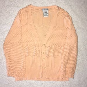 Mid Length Coral Cardigan